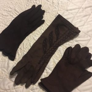 Vintage, brown gloves